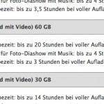 iPod Akkulaufzeit