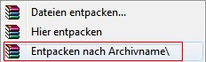 Kontext Archivname